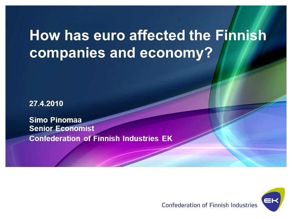 How has euro affected Finnish economy?