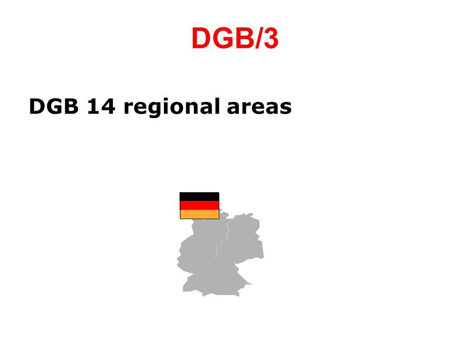 DGB/3 DGB 14 regional areas