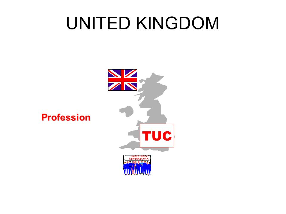 UNITED KINGDOM TUC UNION SYNDICAT GEWERKSCHAFT LO Profession
