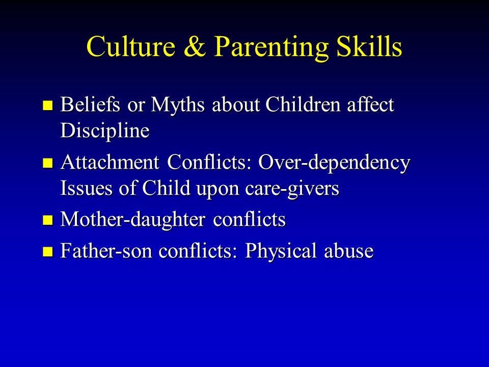 Culture & Parenting Skills Beliefs or Myths about Children affect Discipline Beliefs or Myths about Children affect Discipline Attachment Conflicts: O
