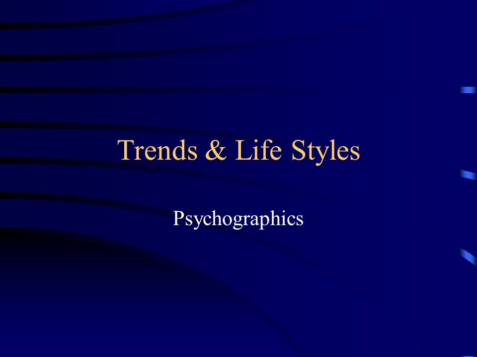 Product Specific Psychographics