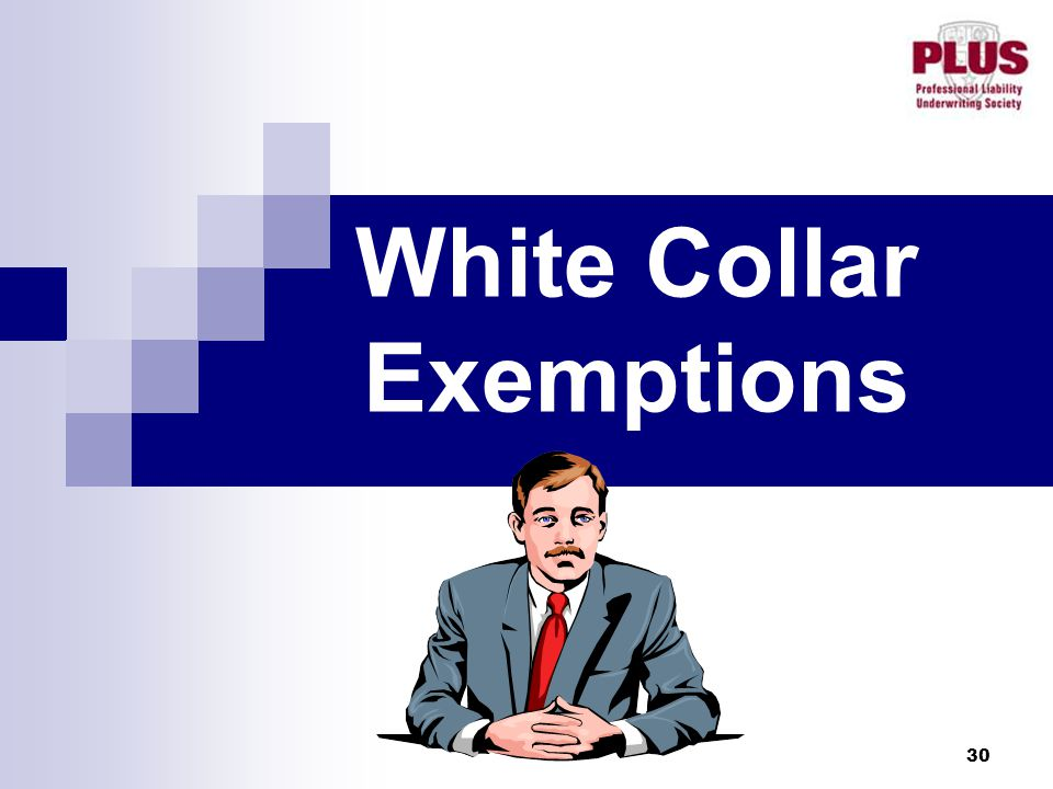 30 White Collar Exemptions