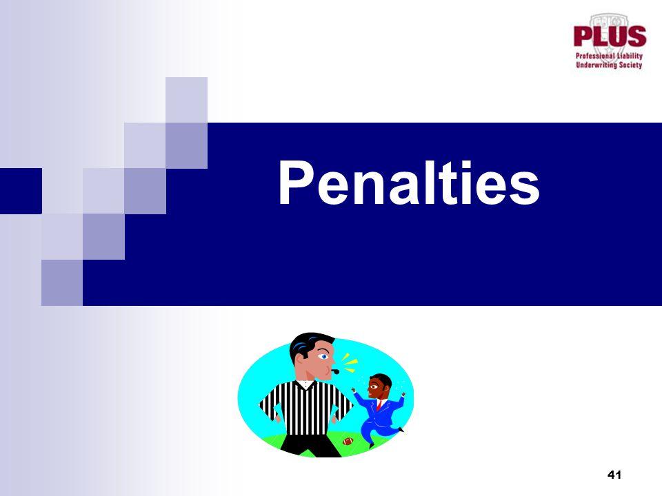 41 Penalties