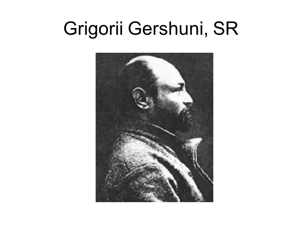 Grigorii Gershuni, SR