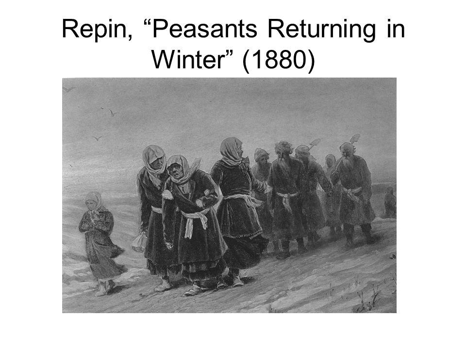 Repin, Peasants Returning in Winter (1880)