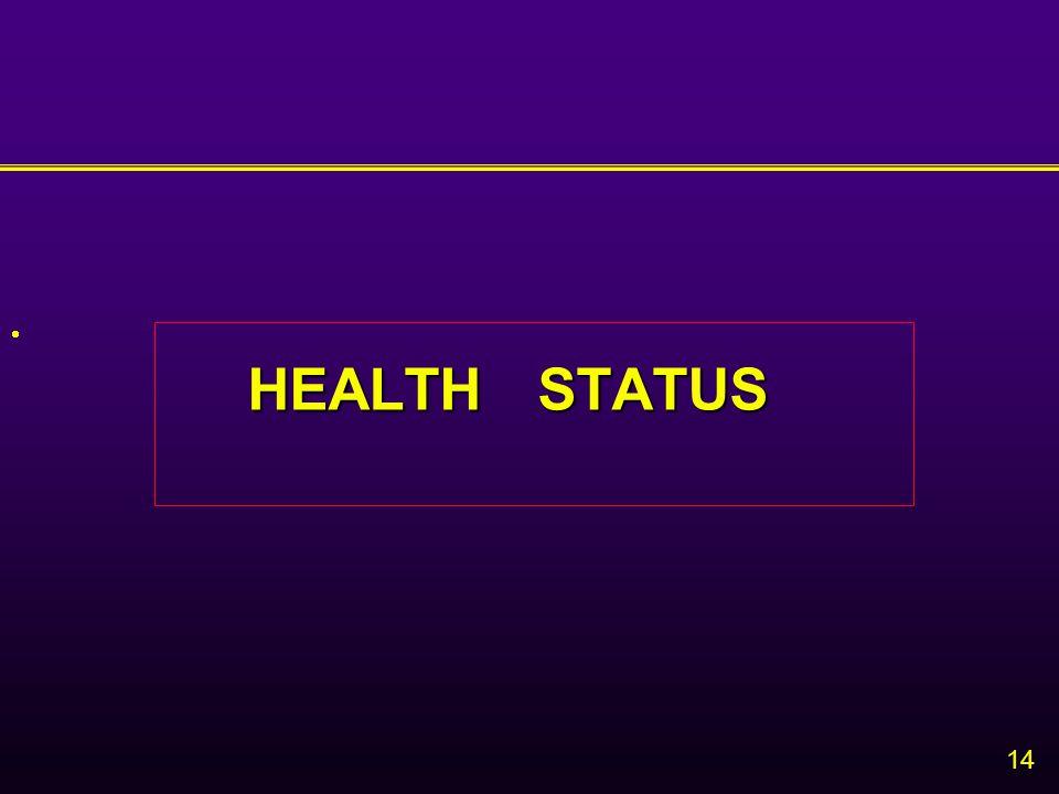 14  HEALTH STATUS