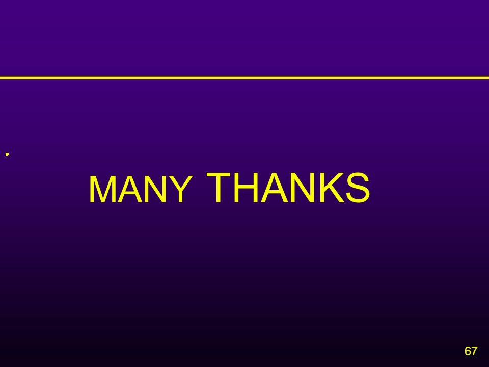 67  MANY THANKS