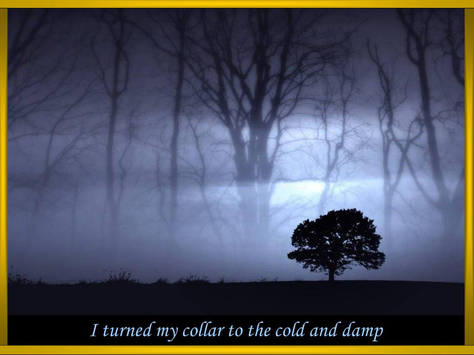 I turned my collar to the cold and damp