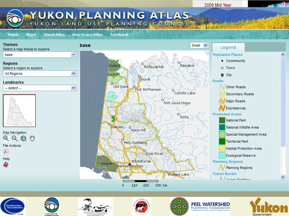 Planning Regions planning regions follow the boundaries of Yukon First Nation traditional territories