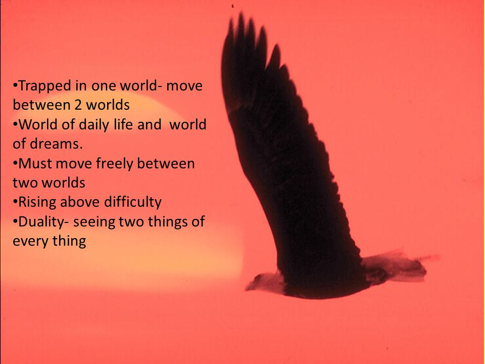 By Dr. Sunil Anand www.drsunilanand.com Trapped in one world- move between 2 worlds World of daily life and world of dreams. Must move freely between