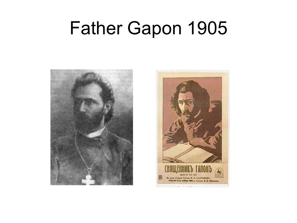 Father Gapon 1905