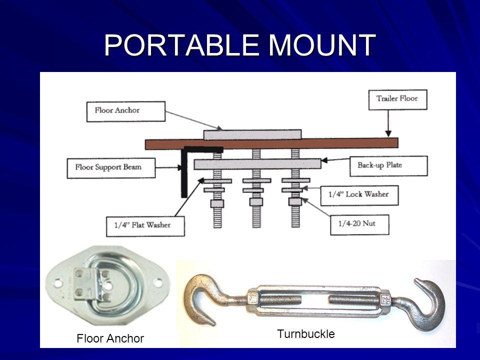 PORTABLE MOUNT Floor Anchor Turnbuckle