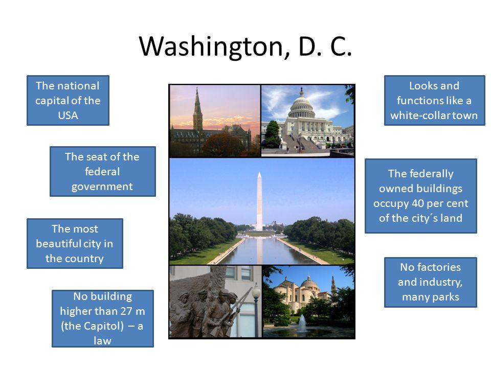History George Washington Pierre L´Enfant Chose the site? Designed the city?