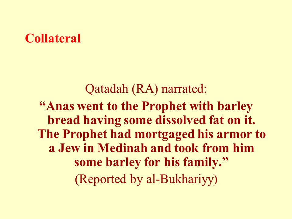Collateral Qatadah (RA) narrated: Anas went to the Prophet with barley bread having some dissolved fat on it.