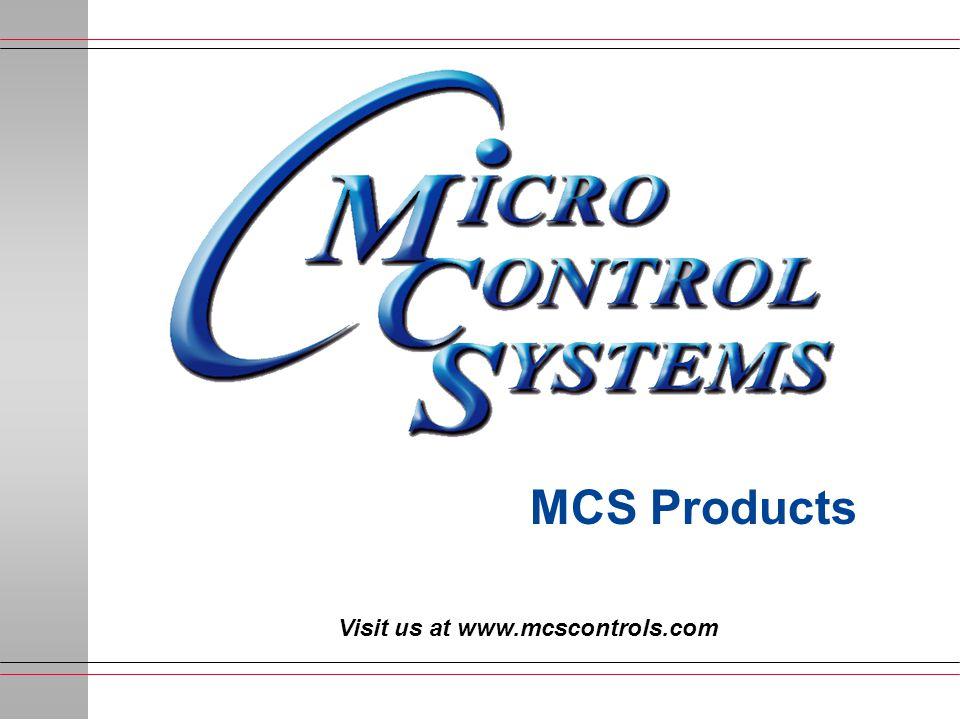 Visit us at www.mcscontrols.com MCS Products