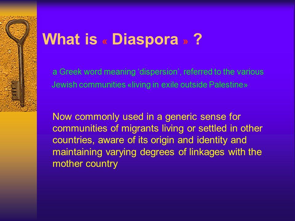 What is « Diaspora » .