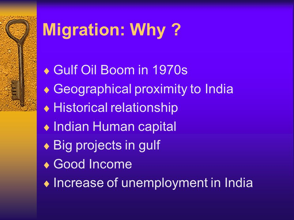 Stocks of Indian Migrant Population in the GCC Countries, Selected years: 1975–2001 Source: Rajan, I.