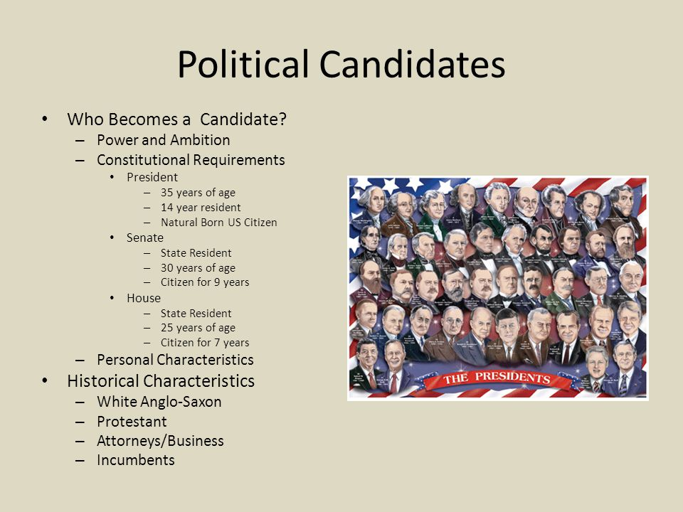 Political Candidates Who Becomes a Candidate.