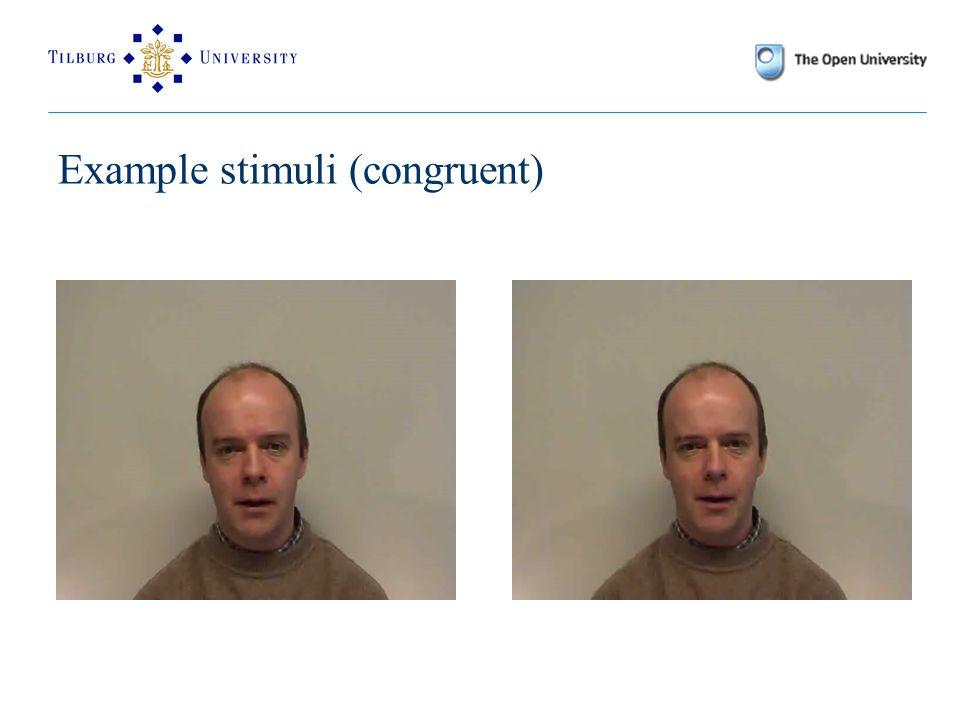 Example stimuli (congruent)
