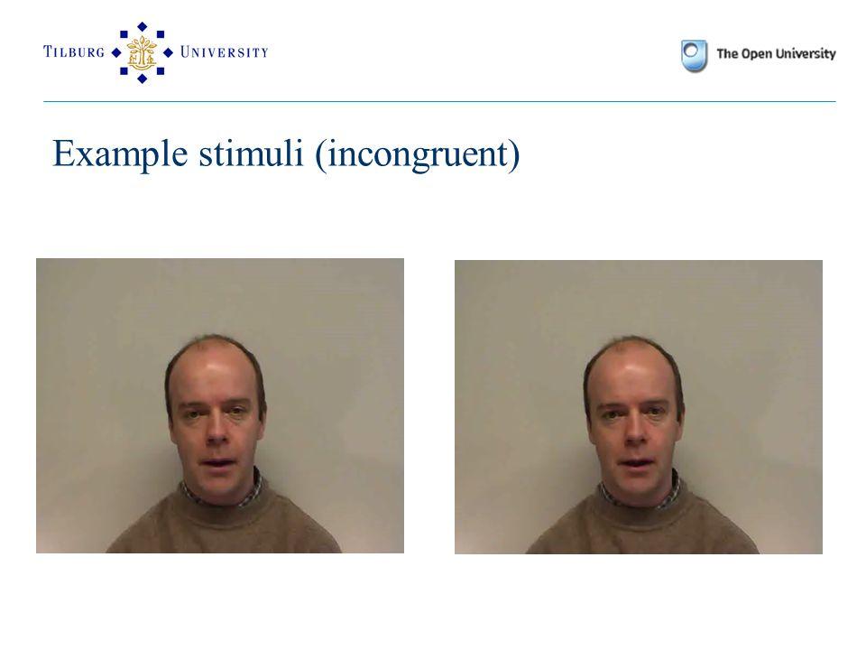 Example stimuli (incongruent)