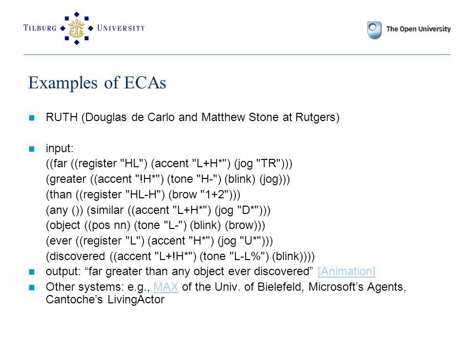 CFG Rules S  NP VP … <s <np <vp currentAct!CA sem!drs({E}  R1, {type(E,T), agent(E,X)}  R2) currentAct!CA sem!drs({E}  R1, {type(E,T)}  R2) currentAct!CA sem!X