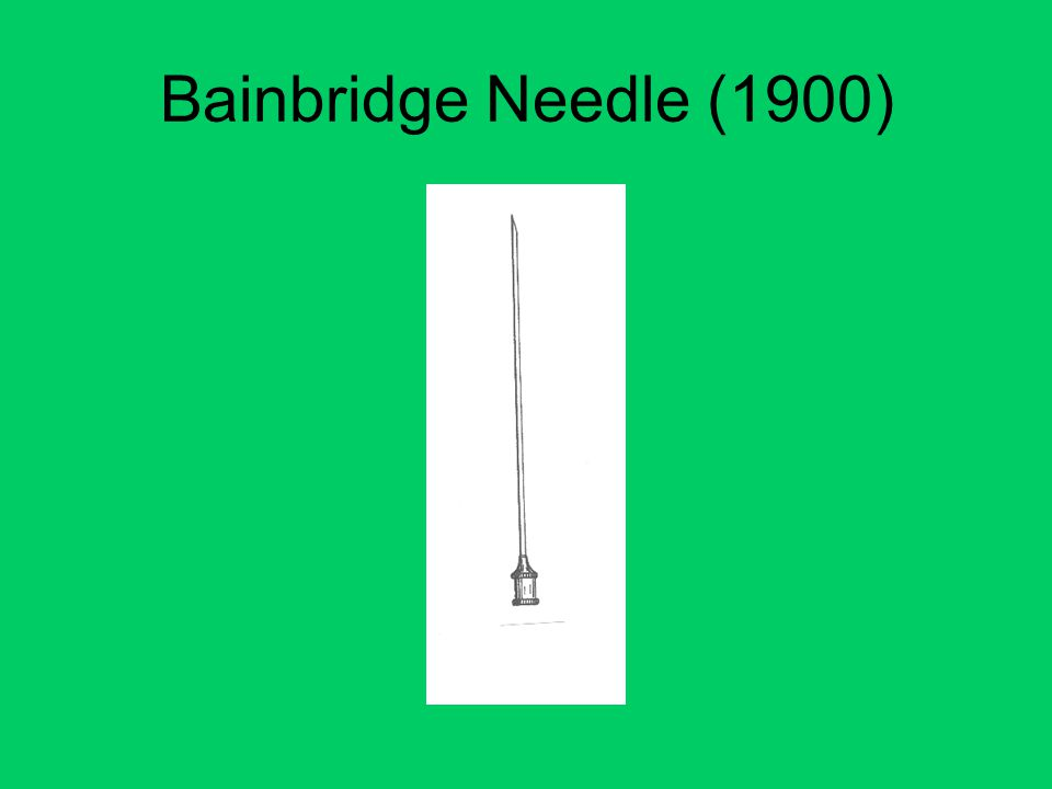 Bainbridge Needle (1900)