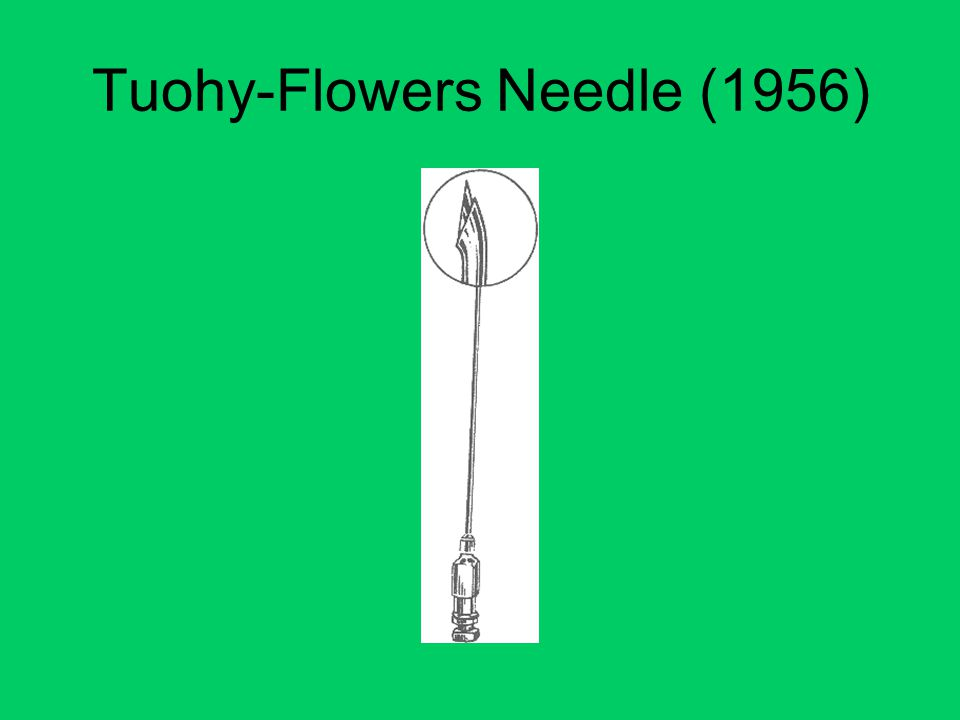 Tuohy-Flowers Needle (1956)