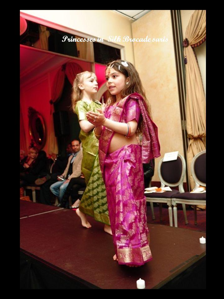 Princesses in Silk Brocade saris
