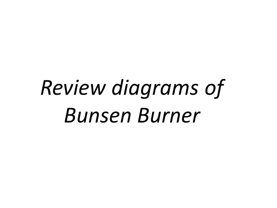 Review diagrams of Bunsen Burner