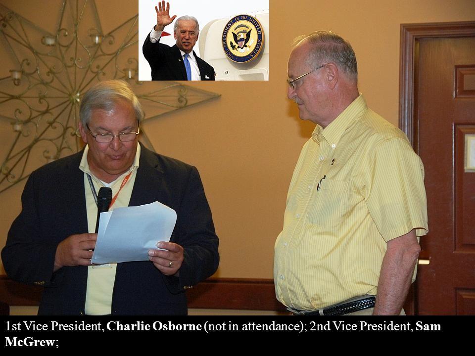 Director 2013-2014, Dave Hunter; Membership Chair, unannounced;