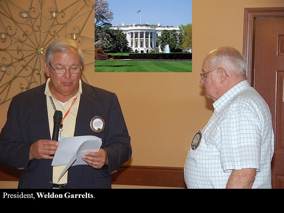 Treasurer, Karl Drake (not in attendance); Secretary, Fonda Bowden;