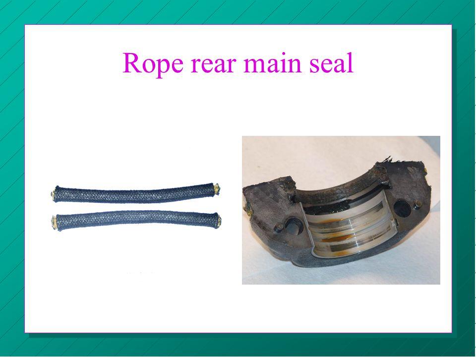 Rope rear main seal