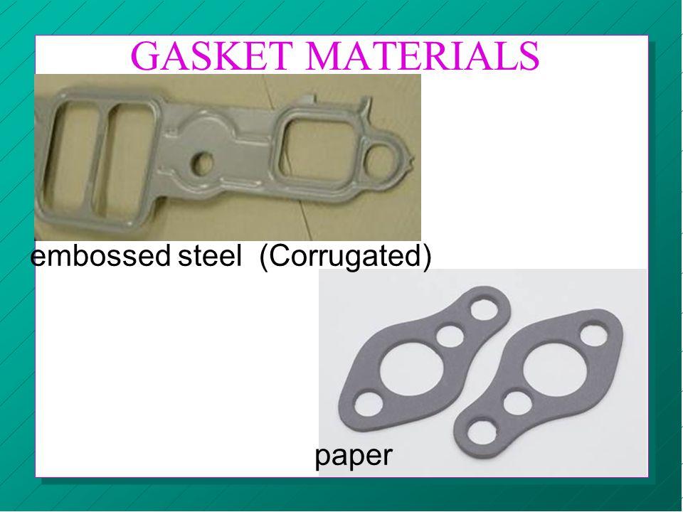 GASKET MATERIALS embossed steel (Corrugated) paper