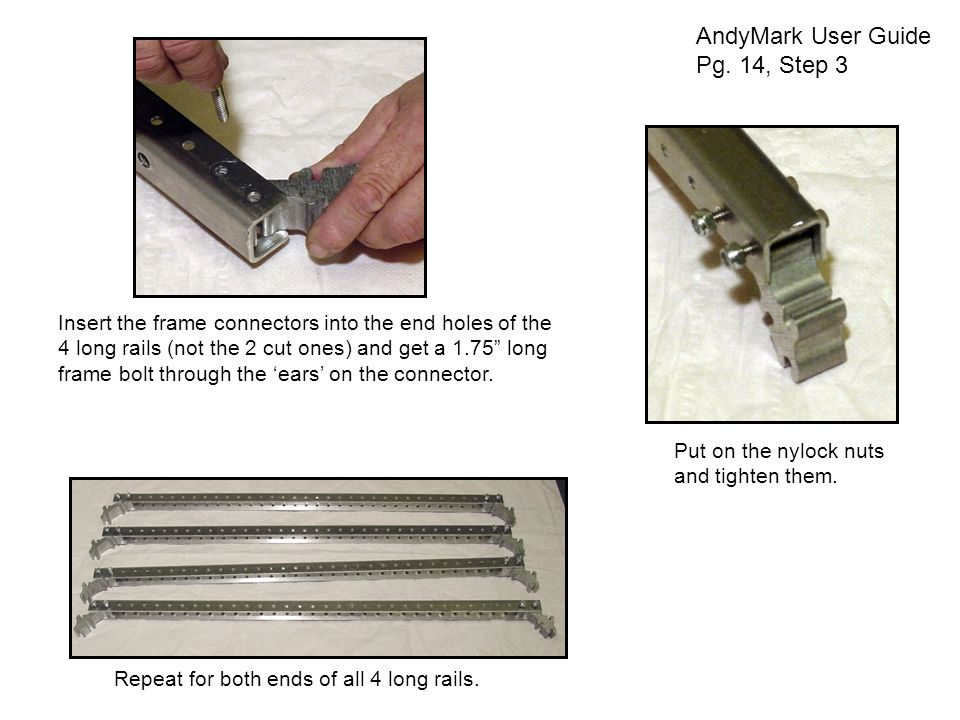 Install the Support Rods AndyMark User Guide Pg.