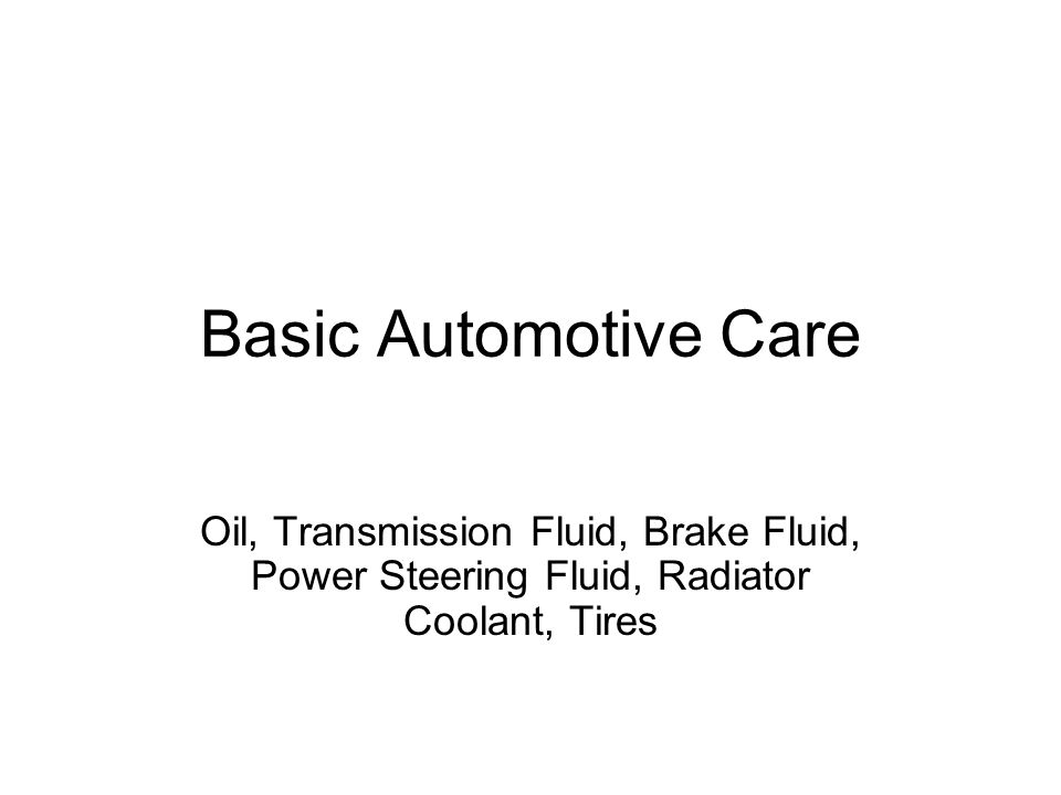 Oil Used to cool metal parts that rub against one another, which protects those parts from expanding Should have a routine oil change ever 3000 miles or ever 6 months Higher number oils are more resistant to flow, low numbers flow more freely