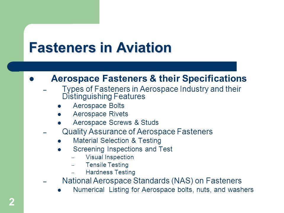 Aerospace Fasteners 3