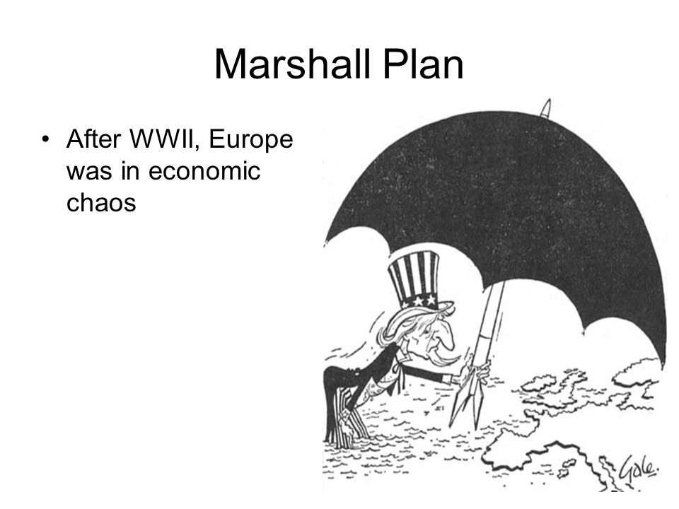 Marshall Plan After WWII, Europe was in economic chaos
