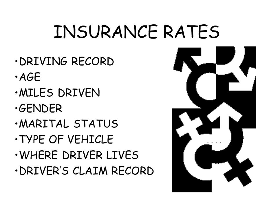 INSURANCE RATES DRIVING RECORD AGE MILES DRIVEN GENDER MARITAL STATUS TYPE OF VEHICLE WHERE DRIVER LIVES DRIVER'S CLAIM RECORD