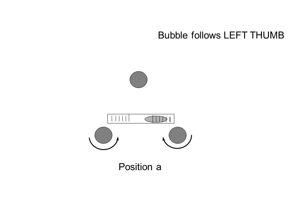 Position a Bubble follows LEFT THUMB