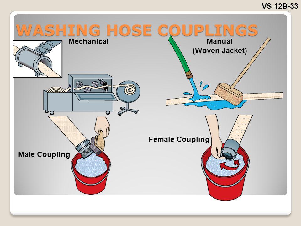 WASHING HOSE COUPLINGS VS 12B-33 MechanicalManual (Woven Jacket) Male Coupling Female Coupling
