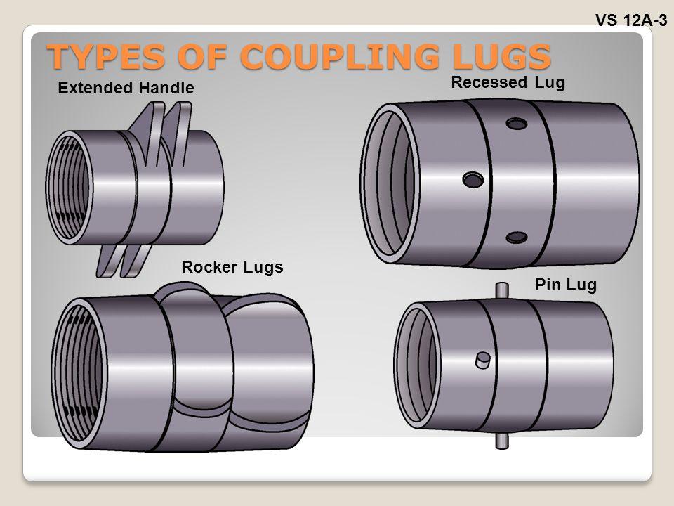 TYPES OF COUPLING LUGS VS 12A-3 Recessed Lug Extended Handle Rocker Lugs Pin Lug