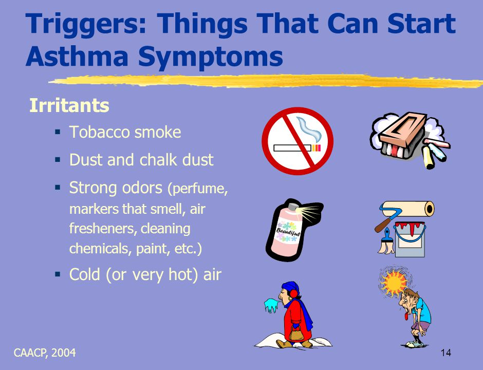 13 Myths and Truths About Asthma Asthma Myths  Asthma medication becomes ineffective if used regularly  Children do not die from asthma Asthma Truths  Controller inhalers work best when used daily, Reliever (albuterol) inhalers will not be as effective if asthma is not in good control  Children and adults die from asthma each year CAACP, 2004