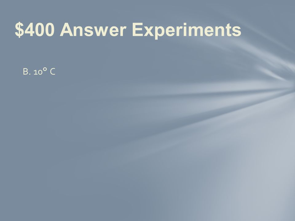 $400 Question Experiments