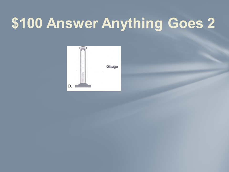 $100 Question Anything Goes 2