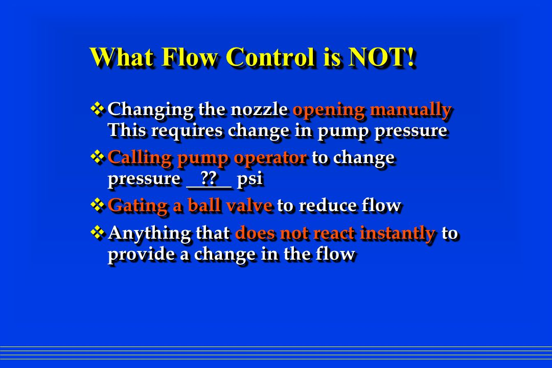 What Flow Control is NOT.