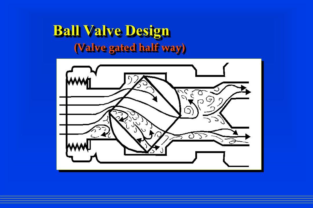 Ball Valve Design (Valve gated half way)