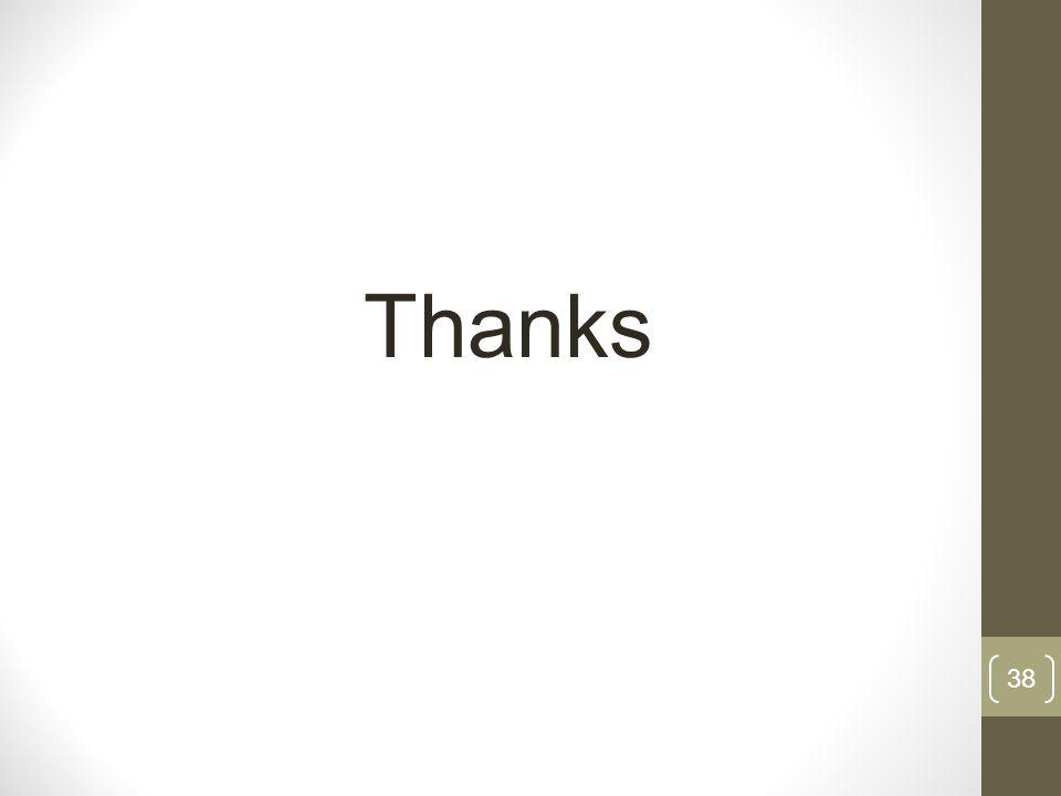 38 Thanks