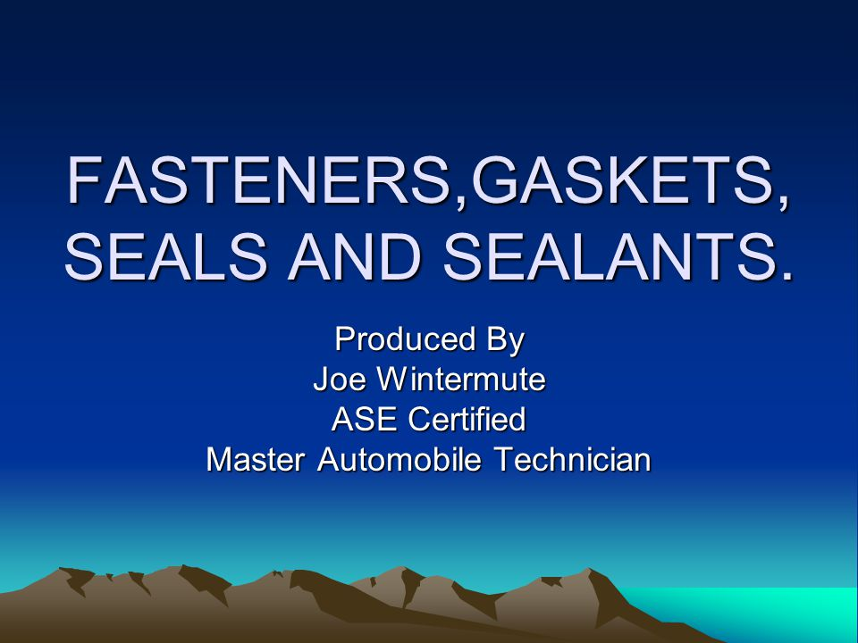GASKETS AND SEALS.Gaskets and seals are used between parts to prevent leakage of various fluids.