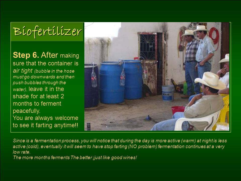 Biofertilizer Step 6.