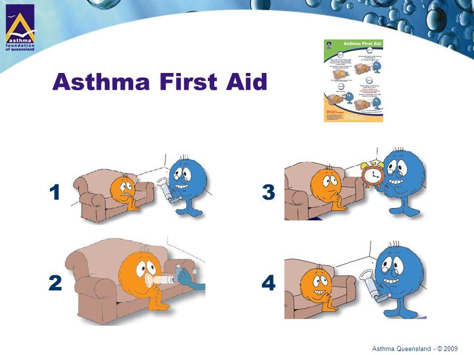 Asthma Queensland - © 2009 Asthma First Aid 1 2 3 4